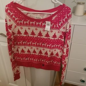 NWT Abercrombie & Fitch Fair Isle Christmas Shirt